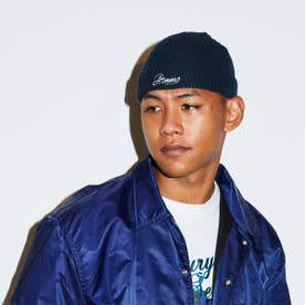 EMBROIDERY LOGO WATCH CAP (NAVY)
