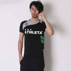 ATHLETA サッカープラクティスシャツ マーク対応 AP-0125 ブラック×グレー (ブラックGY)