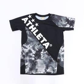 ジュニア サッカー/フットサル 半袖シャツ グラフィックプラシャツ 02346J (ブラック)