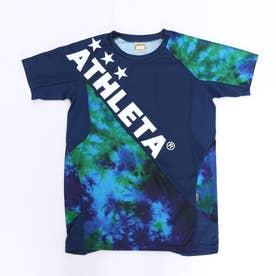 ジュニア サッカー/フットサル 半袖シャツ グラフィックプラシャツ 02346J (ネイビー)