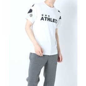メンズ サッカー/フットサル 半袖シャツ ビッグロゴTシャツ 03351 (ホワイト)