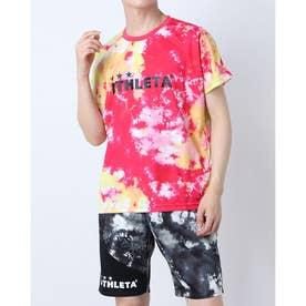 メンズ サッカー/フットサル 半袖シャツ グラフィックプラTシャツ 02347 (ピンク)