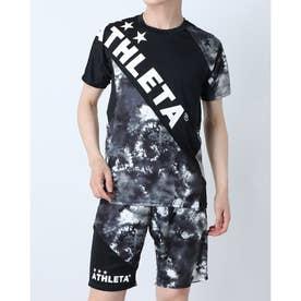 メンズ サッカー/フットサル 半袖シャツ グラフィックプラシャツ 02346 (ブラック)