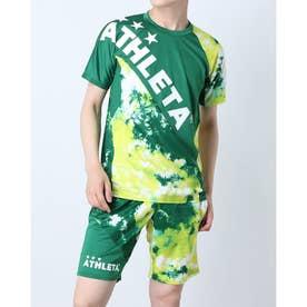 メンズ サッカー/フットサル 半袖シャツ グラフィックプラシャツ 02346 (グリーン)