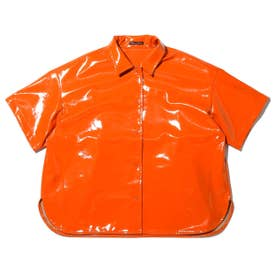 RIEHATA × enamel big shirt (ORANGE)