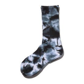 TIE DYE RIBBED SOCKS (BLACK)