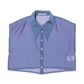 オーガンジーノスリーシャツ (PURPLE)