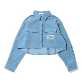 コーデュロイショートシャツ (BLUE)