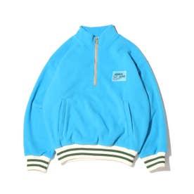 ハーフジップフリースジャケット (BLUE)