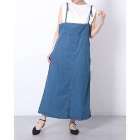 デニムジャンバースカート (BLUE)