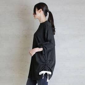 袖口ツイストチュニック (BLACK)
