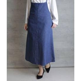 デニムキャミオールインワンスカート (BLUE)
