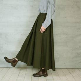ツイルマキシギャザースカート (KHAKI)