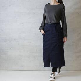 ストレッチデニムビッグポケットタイトスカート (ONEW-NAVY)