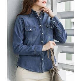ウエスタンデニムシャツ (BLUE)