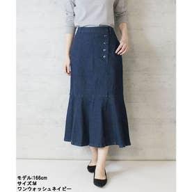 ストレッチデニムマーメイドスカート (ONEW-NAVY)