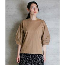 バックリボンぽわん袖Tシャツ (MOCHA)
