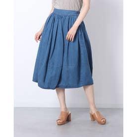 デニムコクーンスカート (BLUE)