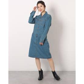 デニムコンビネゾンスカート (BLUE)
