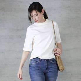 プチハイネック半袖Tシャツ (OFF WHITE)