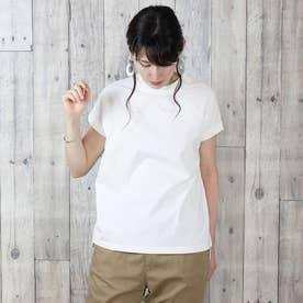 クルーネックフレンチスリーブTシャツ (OFFWHITE)