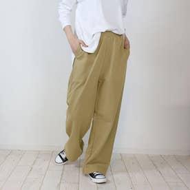 裏毛ワイドパンツ (LKHAKI)