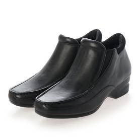 【高機能】サイドゴアショートブーツ (ブラック)