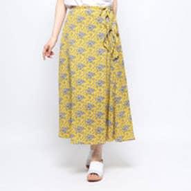 ラップ風スカート (YEL)