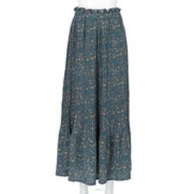 プリーツロングスカート(ブルー)