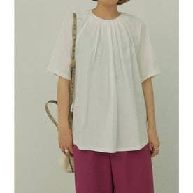 タックデザインTシャツ(ホワイト)