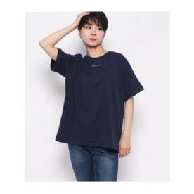 BonjourロゴTシャツ (ネイビー(018))