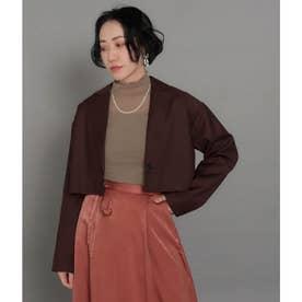 【低身長向けサイズ】ショートジャケット(ブラウン)