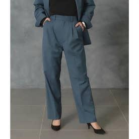 【低身長向けサイズ】スラックスパンツ(ブルー)