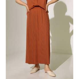 【低身長向けサイズ】Iラインロングプリーツスカート(キャメル)