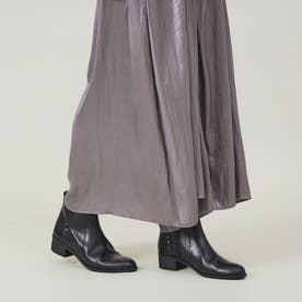 【スノーソール使用】カジュアルショートブーツ (ブラック)