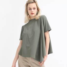プレーティングフレアーTシャツ (オリーブ)