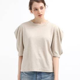 リネンタックスリーブTシャツ (ナチュラル)