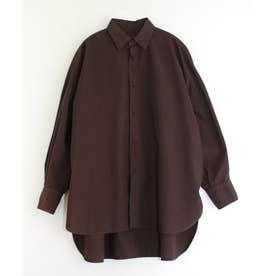 BIGドレスシャツ (ブラウン)