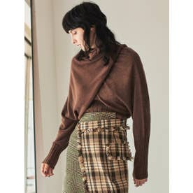 3PARTS LAYERED KNIT (BROWN)