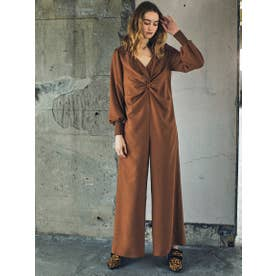 CENTER DRAPE ALL IN ONE (BROWN)