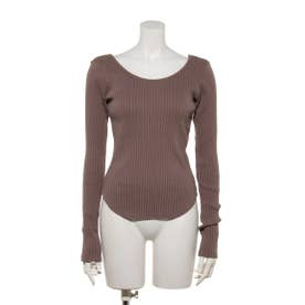 WIDE RIB TOP (BEIGE)