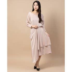 レイヤードスカートドレス (ライトピンク)