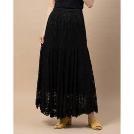 ミックスレーススカート (ブラック)
