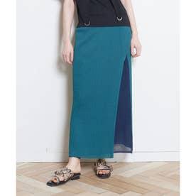 プリーツニットスカート (グリーン)