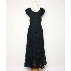 コットンレースドレス (ブラック)