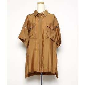 オーバーサイズシャツ (ブラウン)