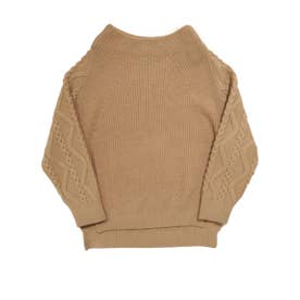 CABLE SLEEVE PULLOVER (BEIGE)