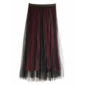 TULLE SEPARATE PLEATS SKIRT (BORDEAUX)