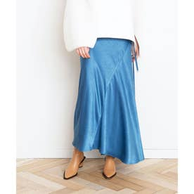 サテンマーメイドスカート (ブルー)