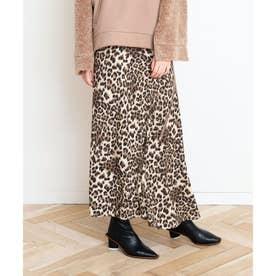 レオパードマーメイドスカート (ブラウン)